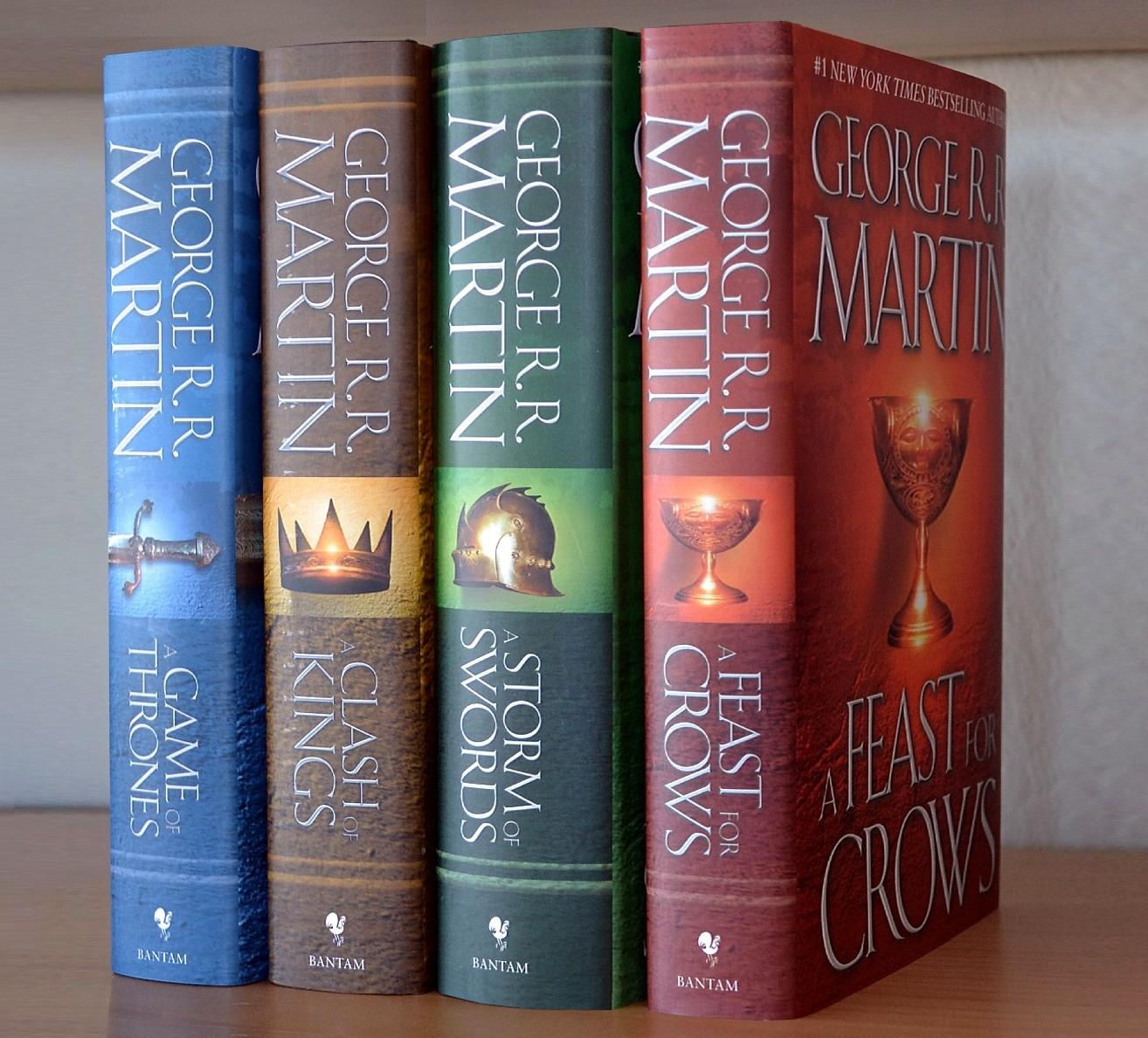 Image for 4 Book Set (Books 1-4):  Game of Thrones, Clash of Kings, Storm of Swords, Feast for Crows ** ALL SIGNED **  (A Song of Ice and Fire series)